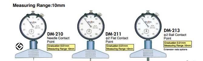 DM-250 DM-250P DM-251 DM-252  Đồng hồ đo độ sâu   Depth Gauges