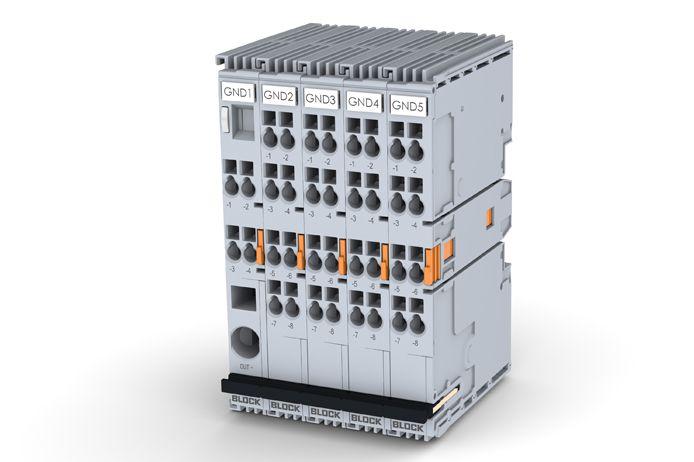Ground module EB‑GND, Bộ ngắt mạch, cầu giao block
