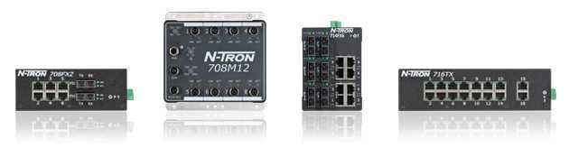 708FX2, 708TX, 709FX, 710FX2, 711FX3, ... N-Tron 700 Managed Ethernet Switches