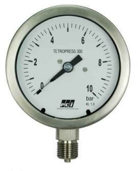 TP300 ( Tetropress 300 ) All Stainless Steel Pressure Gauge