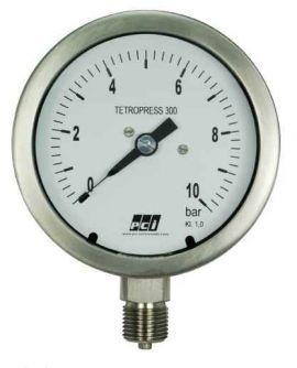 TP300 ( Tetropress 300 ) All Stainless Steel Pressure Gauge